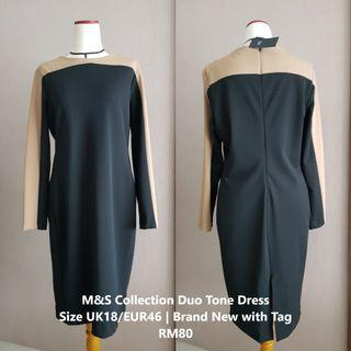 M&S Collection Duo Tone Dress