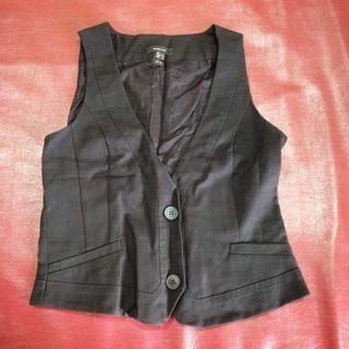 Mango outer black vest suit