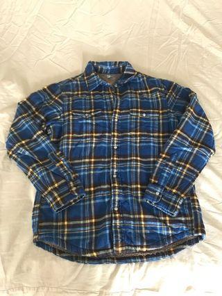 Uniqlo Blue Checker winter shirts