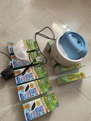 寵物飲水器+10盒濾芯 (濾芯係全新)