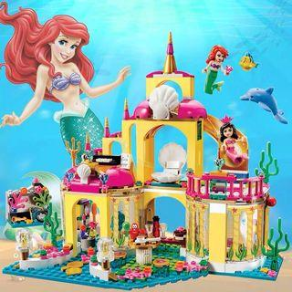 🚚 Little mermaid lego block set with figurines