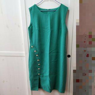 🚚 bn teal sleeveless formal dress [C]