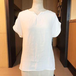 🚚 全新🔥三色/ 夏日V領雪紡短袖⚪️白色賣場