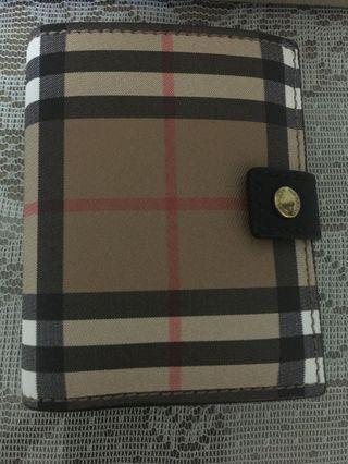 Authentic Burberry Small Vintage Check & Leather Folding Wallet
