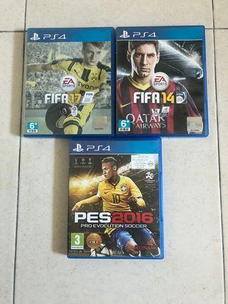 Ps4 Games clearance Fifa 14,17 and Pes 16