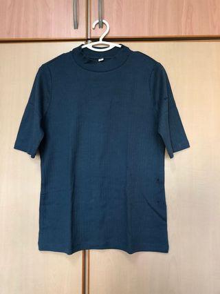 High neck cotton shirt