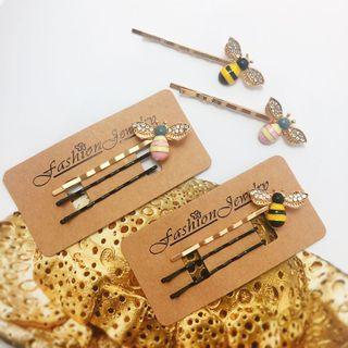 🚚 韓國可愛小蜜蜂一字夾組
