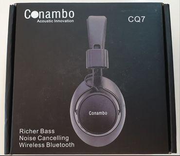🚚 BNIB- Conambo CQ7 Anti Noise Cancelling Wireless Bluetooth Headphones
