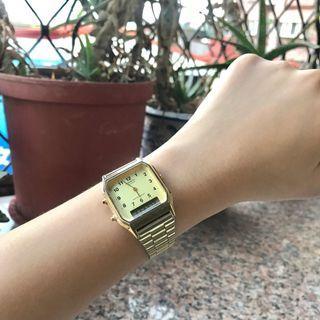 Casio 復古電子金錶