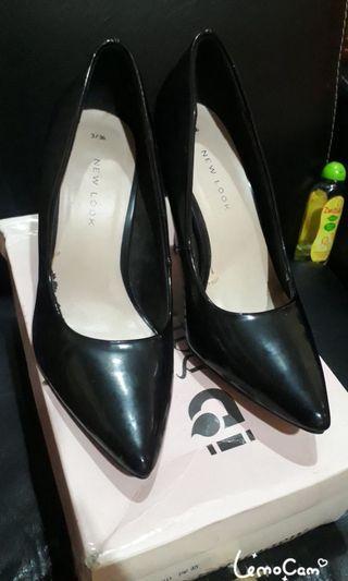 sepatu new look mulus non minus tinggi 6 cm 7 cm