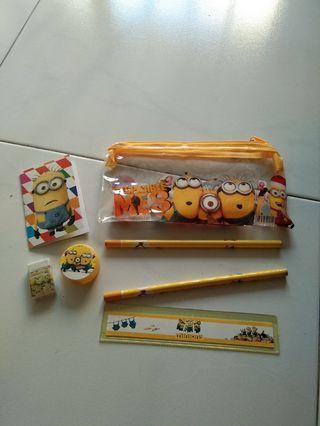 Minions stationery set
