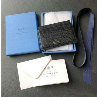 SMYTHSON Panama Leather Card Holder (Imported from London)