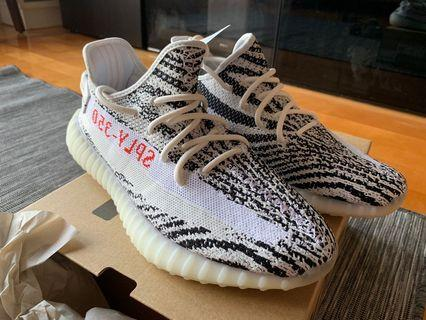 Zebra Yeezy Boost 350 V2 (with receipt from END)