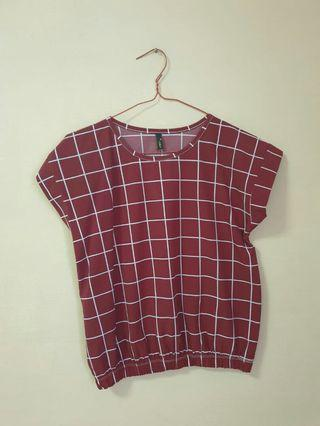 (3 for $10) Red Checkered Crop Top