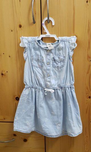 Oshkosh 24m/2years 兩歲幼兒BB女童 藍色背心連身裙