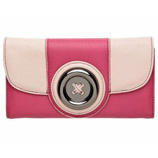 MIMCO Lustre Button Wallet Purse Courtesan Pink/Lollipop