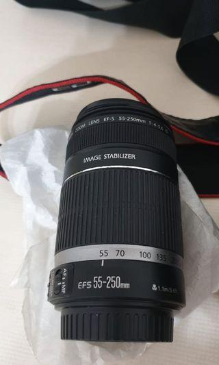 Canon EFS lens 55- 250mm f/ 4-5.6 IS