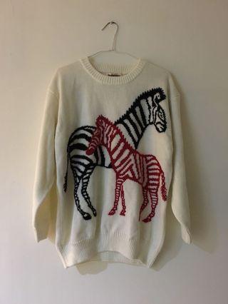 極新✨斑馬圖騰毛衣