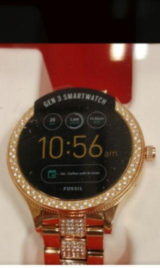 Preloved Fossil Smart watch Gen3 Q venture warna rosegold blink2