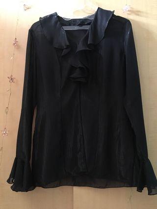 Black glamour shirt