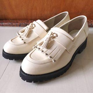 全新正版 Lowrys Farm white loafer 白色 樂福鞋 日本