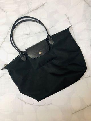 Longchamp Le Pliage NEO系列 黑 長柄L號