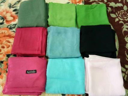 Bawal Plain Cotton, Saudia Dan Chiffon