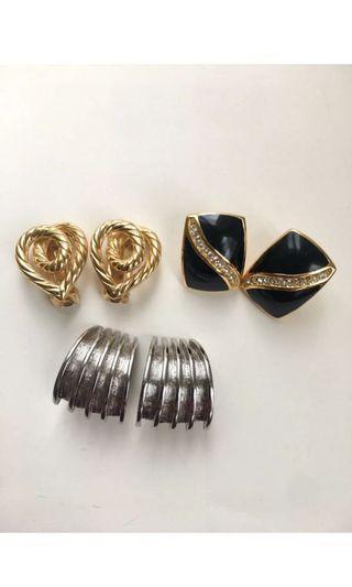 🚚 Christain Dior vintage 耳環ㄧ起賣