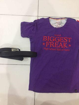 T-shirt and belt