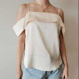 F21 Silk Off Shoulder Top