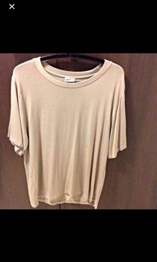 Korean Basic Cream Beige Top / Tshirt