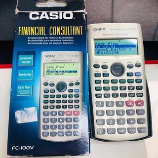 🚚 Casio Financial Calculator FC-100V