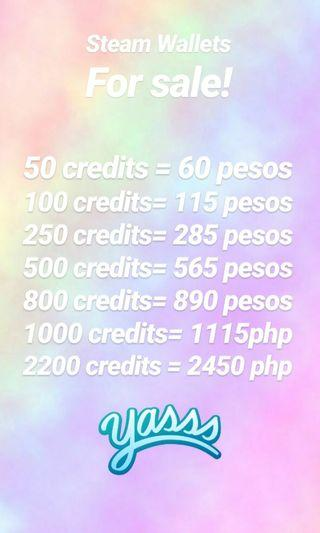 Steam Wallet codes for sale! 😍😘✔