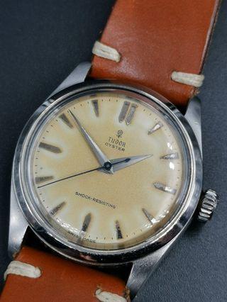 古董 50s Tudor 細花7904 手上弦全鋼手錶