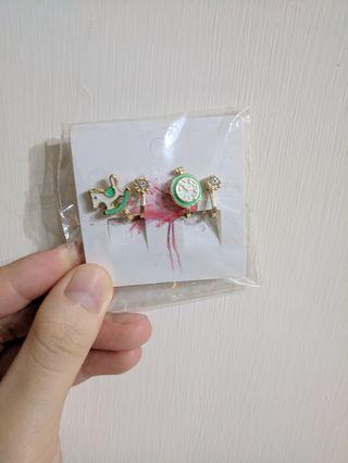 二件組夾式耳環