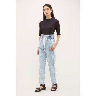 The Editors Market Darena Gathered Waist Jeans
