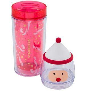 🚚 Taiwan Starbucks Santa with Hat Tumbler