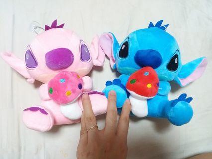 Couple Stitch Plush (Pink & Blue Pair)