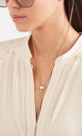 New Chole gold tone sunglasses chain