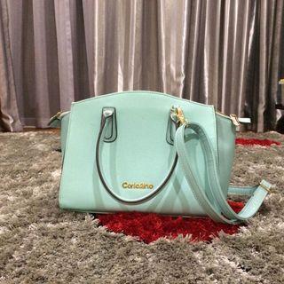 Carlo Rino Tiffany blue sling bag