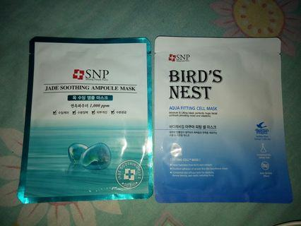 SNP bird's nest aqua fitting cell & jade soothing ampoule mask