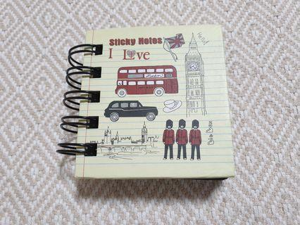 🚚 Sticky Notes - I Love London (5 Colours)
