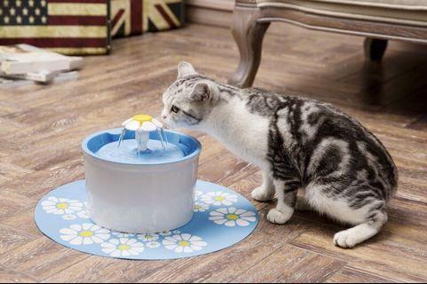 寵物飲水機 再贈2入過濾芯 活性碳 小花飲水器