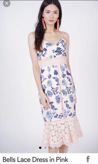 🚚 MDS Bellari lace dress in PINK