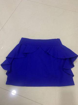 Mini Skirt blue moscato