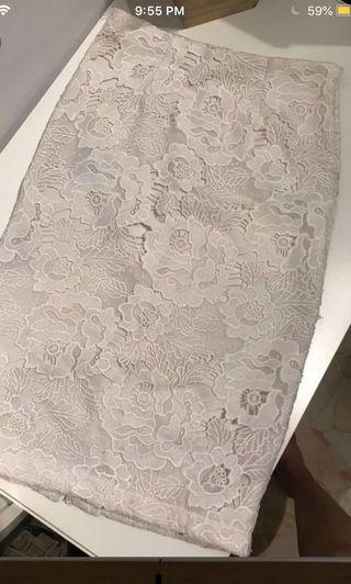 Editors market White Lace pencil skirt