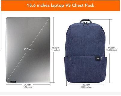 """mi 10L minimalist bag / black / fits upto 15.6"""" laptop"""