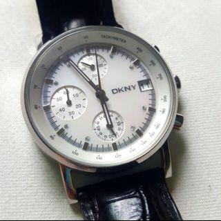🚚 Authentic DKNY Chronograph Leather Watch