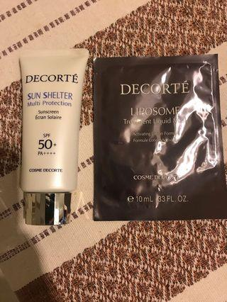 Decorte sunblock and mask