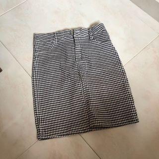 TEMT/Valleygirl Gingham/Checkered Bodycon Mini Skirt